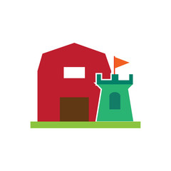 Castle Farm Logo Icon Design