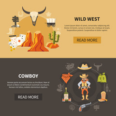Wild West Horizontal Banners