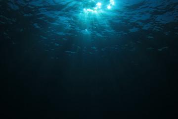 Sunlight in blue ocean
