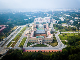 Aerial view of Raj Bhavan in Bangalore India