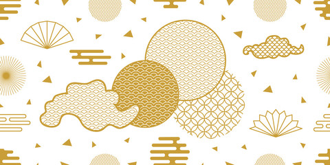 Happy Chinese New Year seamless vector pattern.