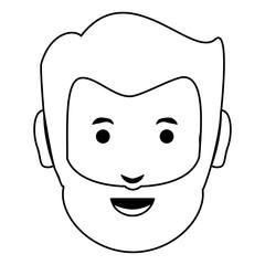cartoon man face icon
