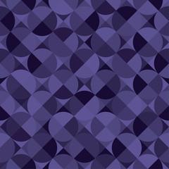 Bezszwowy fiołkowy wzór z okręgami i geometrycznymi kształtami