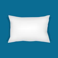 white rectangular pillow, cushion vector illustration