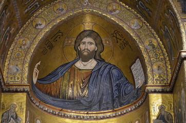 Interior of Duomo di Monreale, Sicily