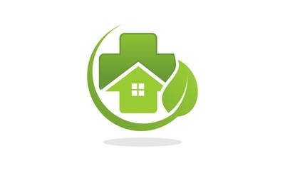 Green Home Clinic. Herbal. Home Care Logo
