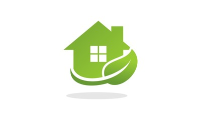 Green house. Home Care Logo