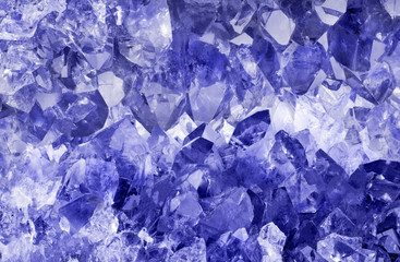 light sapphire crystals macro backgrond