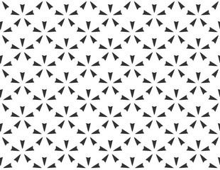 Abstract geometric star Seamless pattern . Repeating geometric Black and white texture. geometric decoration