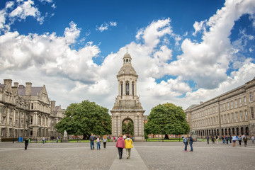 Old bell tower at Trinity College in Dublin, Ireland