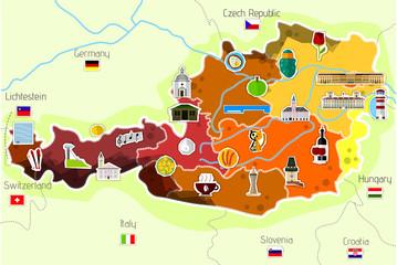 Map od Austria