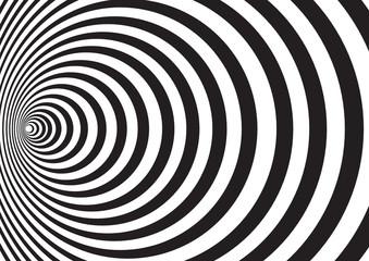 black white radial circles