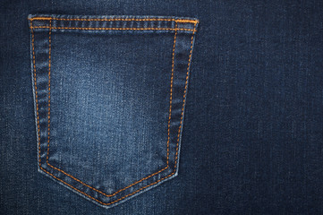 part of women's jeans with a back pocket