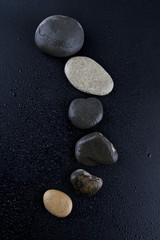 stones isolated on a black background
