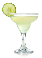 Acrylic Prints Cocktail Classic margarita cocktail with lime