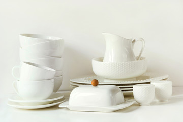 See More & White tableware for serving. Crockerydish utensils and other ...