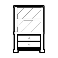 drawer with shelves icon
