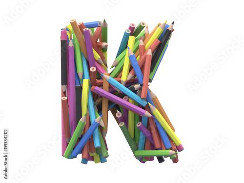Colored pencils font