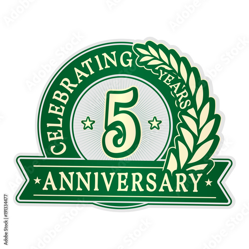 5 years anniversary logo template vector and illustration fotolia