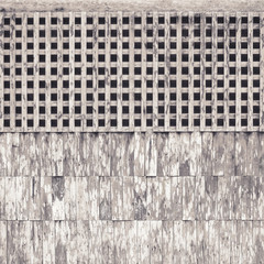 old wooden wall and lattice texture background