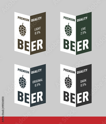 beer label design vector template stock image and royalty free