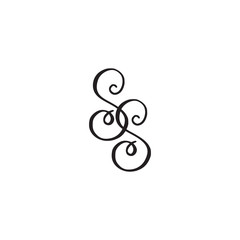 Handwritten monogram SS icon