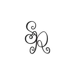 Handwritten monogram SR icon