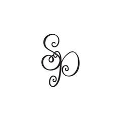 Handwritten monogram SP icon