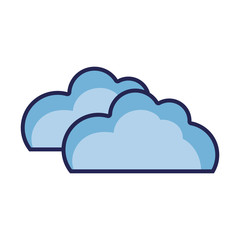 nature clouds weather in the sky icon