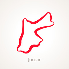 Jordan - Outline Map
