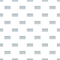 Fence with ball pattern seamless in flat style for any design