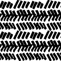Aztec seamless pattern. Vector monochrome ornament.