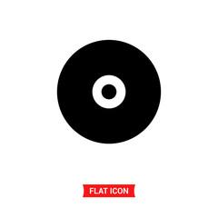 Compact disc vector icon , CD disc symbol