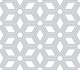 Seamless diamonds and hexagons pattern. Geometric texture.