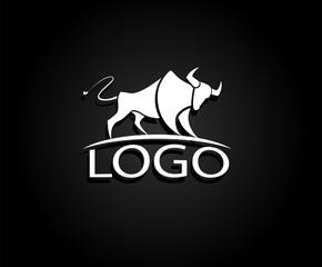 Vector image of bull design