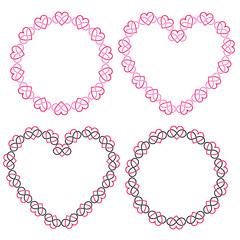interlocking heart frames