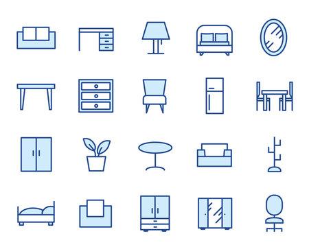Furniture Vector Icon Set