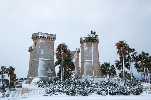 Quattro colonne near Santa Maria al Bagno, salento, italy\