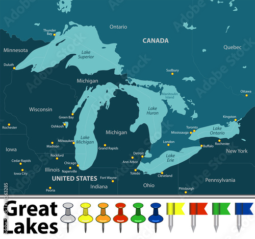 Map of Great Lakes\