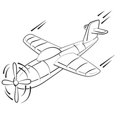vliegtuig kleurplaat