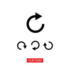 Restart vector icon, refresh symbol set