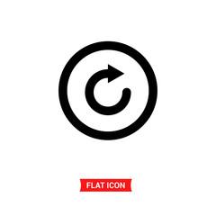 Restart vector icon, refresh symbol