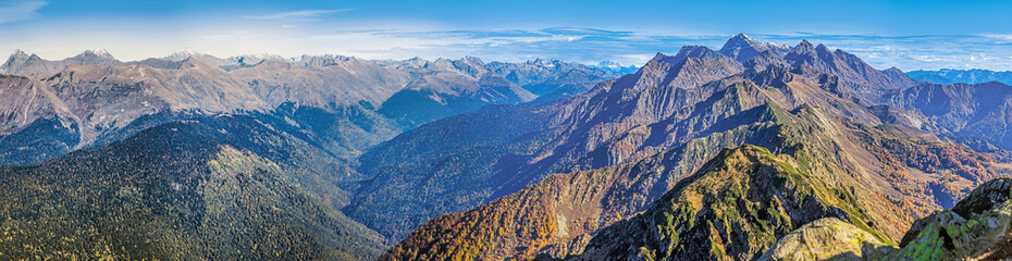 October in the mountains near the city of Sochi, Russia