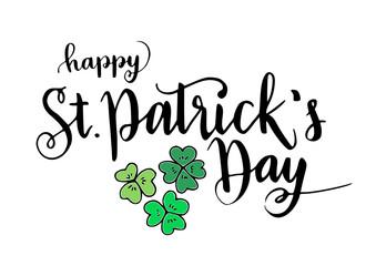 St. Patrick day celebration handwritten lettering