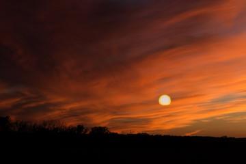 sunset, sky, clouds, sun, cloud, orange, sunrise, nature, landscape, evening, blue, light, yellow, dusk, horizon, color, red, dawn, colorful, summer, beauty, morning