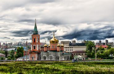 Znamensky temple in Barnaul