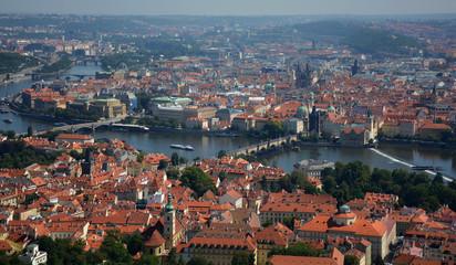 High view Prague panorama