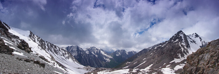 the mountains of Kyrgyzstan