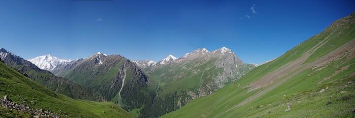 the mountains of Kyrgyzstan