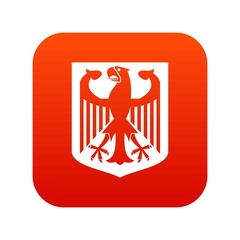 Coat of Arms of Germany icon digital red